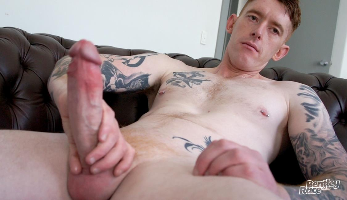 Bentley-Race-Perry-Jameson-Rehead-Aussie-With-A-Big-Uncut-Cock-22 Hung Tatted Up Ginger Gets His Big Uncut Cock Sucked
