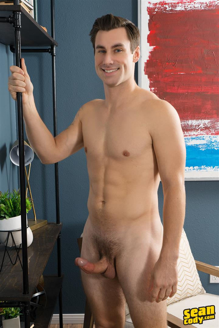 Sean-Cody-Giovanni-Straight-Guy-Jerking-Off-Thick-Curved-Italian-Cock-08 Straight Muscular Italian-American Jerks Off His Big Thick Curved Cock