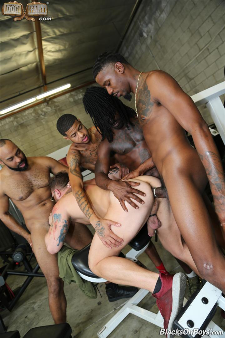 Blacks-On-Boys-Riley-Mitchel-Fame-Knockout-Leon-Redd-Ray-Diesel-Big-Black-Cock-22 Hairy Muscle Daddy Riley Mitchel Takes Four Big Black Cocks Up The Ass