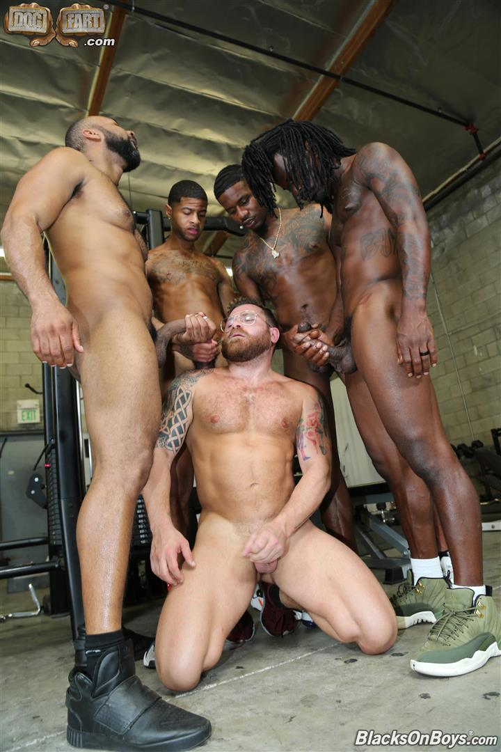 Blacks-On-Boys-Riley-Mitchel-Fame-Knockout-Leon-Redd-Ray-Diesel-Big-Black-Cock-27 Hairy Muscle Daddy Riley Mitchel Takes Four Big Black Cocks Up The Ass