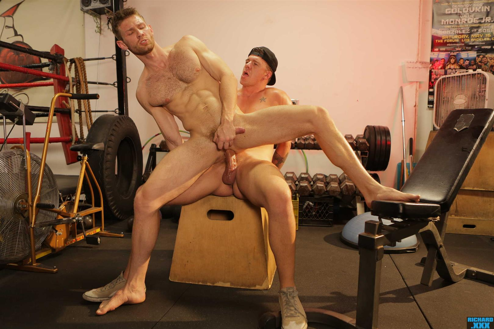 Richard-XXX-Jacob-Peterson-and-JJ-Knight-Big-Dick-Guys-Bareback-Sex-At-Gym-24 Boxing Buddies JJ Knight Barebacks Jacob Peterson At The Gym